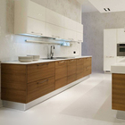 Particleboard rta kitchen cabinet Metallic Lacquer Kitchen Cabinet Modern Designs Hot Selling Modular Kitchen Cabinets