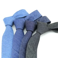 Highly cost effective 100% cotton fabric casual jeans men's tie