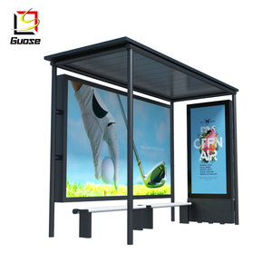 outdoor metal furniture bus waiting shed led display for sale