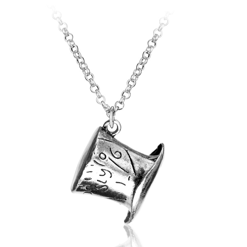 The Alice in Wonderland Rabbit's Magic Hat Silver Necklace фото