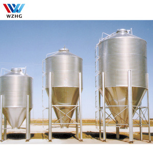 Small Galvanized Steel Silo for Poultry Farm Used