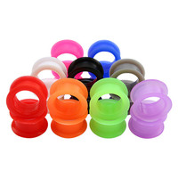 Wholesale Flexible Silicone Ear Piercing Jewelry Ear Plugs Flesh Tunnel