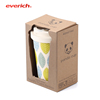 Biodegradable Bamboo Fibre Coffee Cup With Silicone Lid And Sleeve