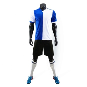 2019 New Model Sublimation Sports Uniform Football Soccer Cheap Blank Design Blue Colors Men's Soccer Jersey