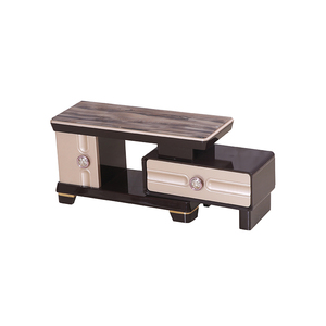 popular hotel room live room furniture modern led center tempered glass tv stand design table