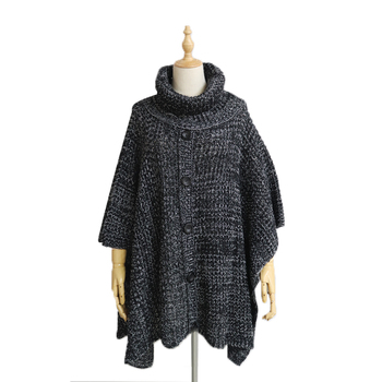 Autumn and winter new fashion classic mixed color knitted designer jacquard pullover shawl clothes