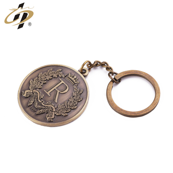 China Supplier Wholesale custom bronze memorial coin made logo metal keychain