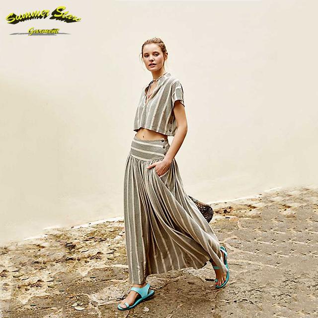 46921f1d5 Venta al por mayor faldas largas con rayas-Compre online los mejores ...