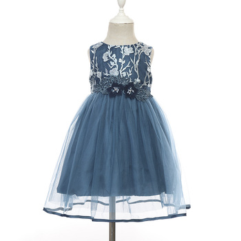 2019 Wholesale Toddlers Little Baby Girls Embroidery Tulle Party Princess Dresses Flower Girl Dresses Princess Dress