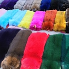 Dyed color synthet Fur 100% Products Made From Animal Skin Hide And Skin Animal fox or raccoon fur