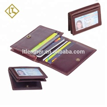 도매 gift rfid 블로킹 탑 결 genuine leather men credit card holder 여행 지갑 와 ID 창