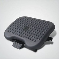 Ergonomic Foot Rest Height Angle Adjustable Plastic Massage Footrest