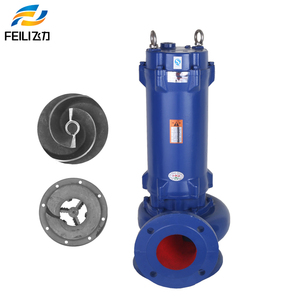 dirty water discharge treatment pump 2 2 kw submersible sewage pump 3 inch  diameter sludge pumps with cutter