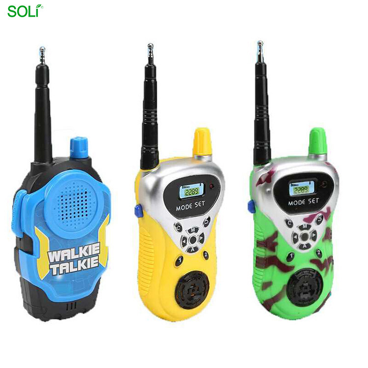 Atacado Hot Sale Walkie-talkie Interfone Ao Ar Livre Mini Walkie Talkie Telefone de Brinquedo Do Bebê