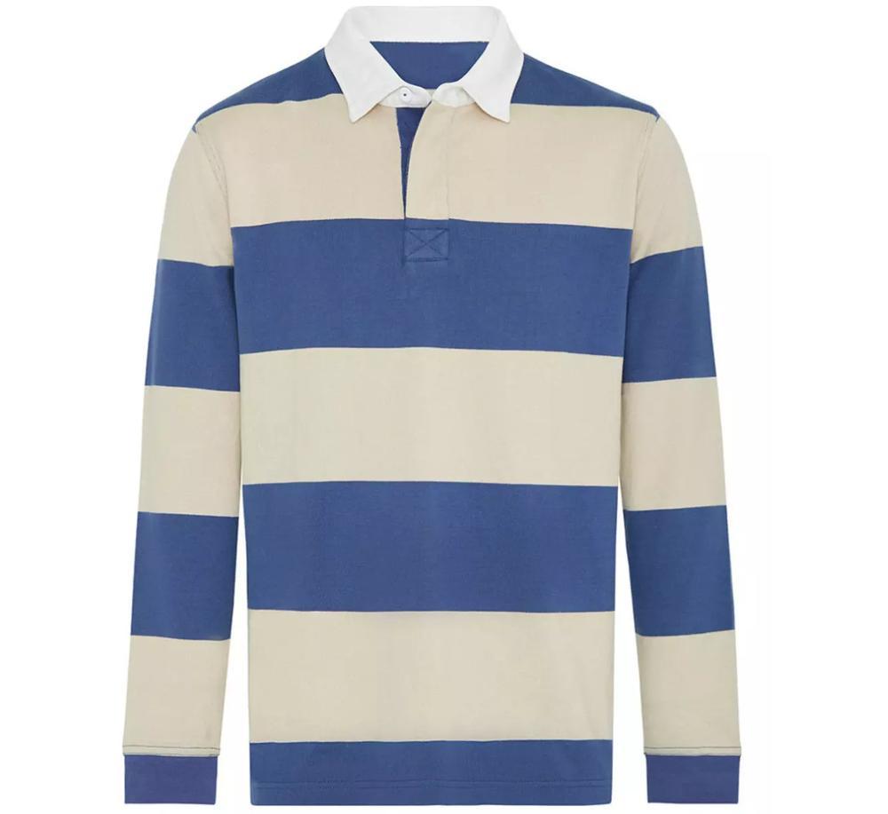 Long sleeve cotton rugby jumper cotton football jerseys