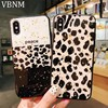 DropshippingLuxury Gold Foil Bling Leopard Phone Case For iPhone XR XS Max X Glossy Soft Silicon Case Cover For iPhone 8 7 Plus