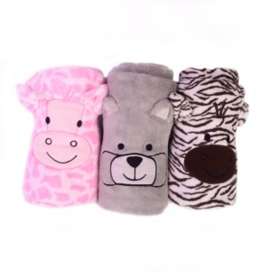 2019 new style customized soft plush faux fur coral fleece cute cartoon animal swaddle baby blanket