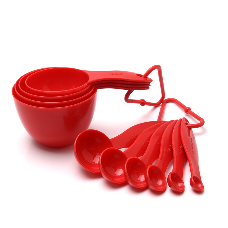 High Quality food grade Kitchen gadgets tools 10pcs Plastic <strong>Measuring</strong> Cup And <strong>Spoon</strong> Set/ Powder <strong>Measuring</strong> Cup Set