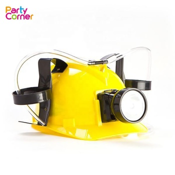 Party Game Miner's Drinking Beer Helmet Constructor Hat With Light
