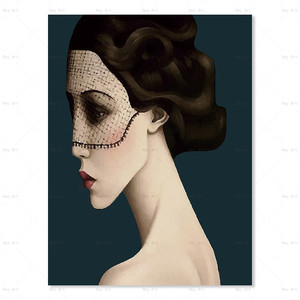 Home Decoration Items Abstract Woman Wall Art Room Canvas Oil Painting