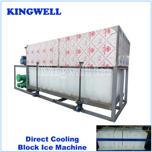 1 to 30 tons block ice maker machine with alumilate ice block moulds