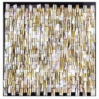 Mother of Pearl Yellows / Golds Mosaic Tile,Nature Sea Shell Mosaic