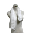 3.5mm white silk gauze fabric silk chiffon scarf white