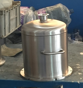Vacuum filter machine chamber for oil with stainless steel kF50 flange