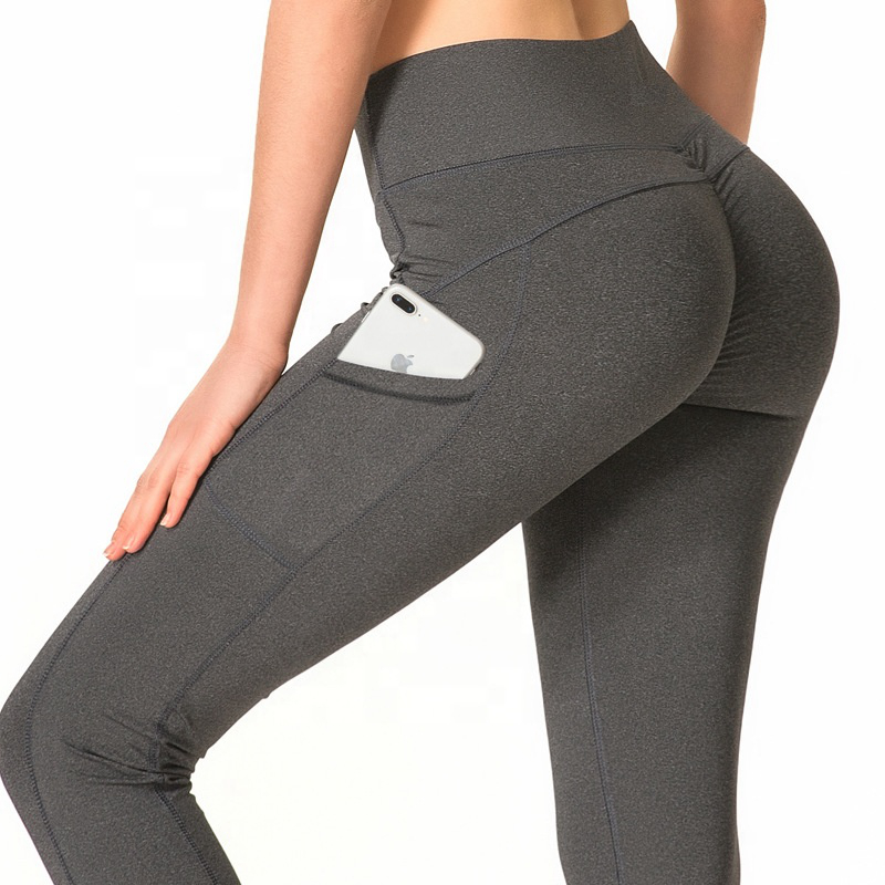 Honfit gym fitness workout women yoga leggings with pocket фото