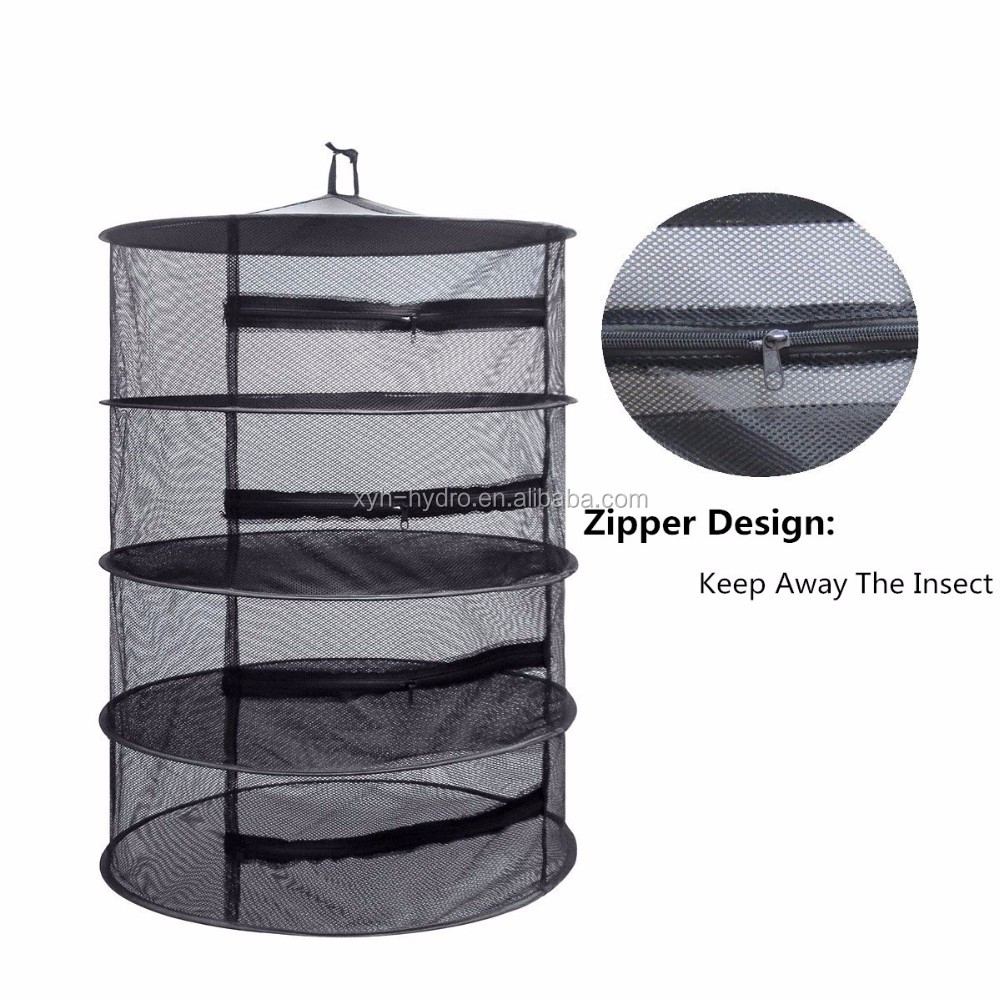 Herb Drying Rack Net 3 Layer Herb Dryer Mesh Hanging Dryer Racks with Zipper US