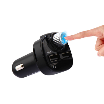 Car FM dual usb charger wireless handsfree built-in Mic call Music car kit mp3 player BT car fm transmitter