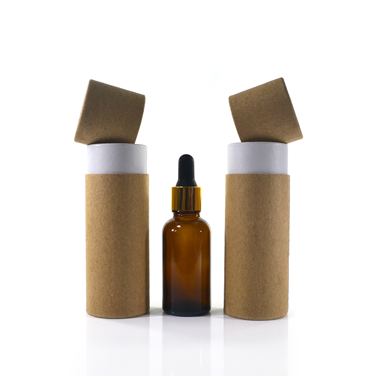 Cosmetic packaging10ml 15ml 20ml 30ml 50ml 100ml recycled kraft cardboard white brown black paper tube