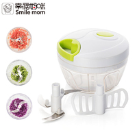 Smile mom Stainless steel blade Pull Manual Mini Food Vegetable and Fruit Slicer