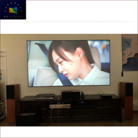 4K Home Theater Top Grade Easy to Install Fashionable ALR Black Crystal Fixed Frame Projection Screen ZHK100B-Black Crystal