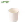 Food grade disposable take away round 16oz white kraft paper soup bowl with paper lid