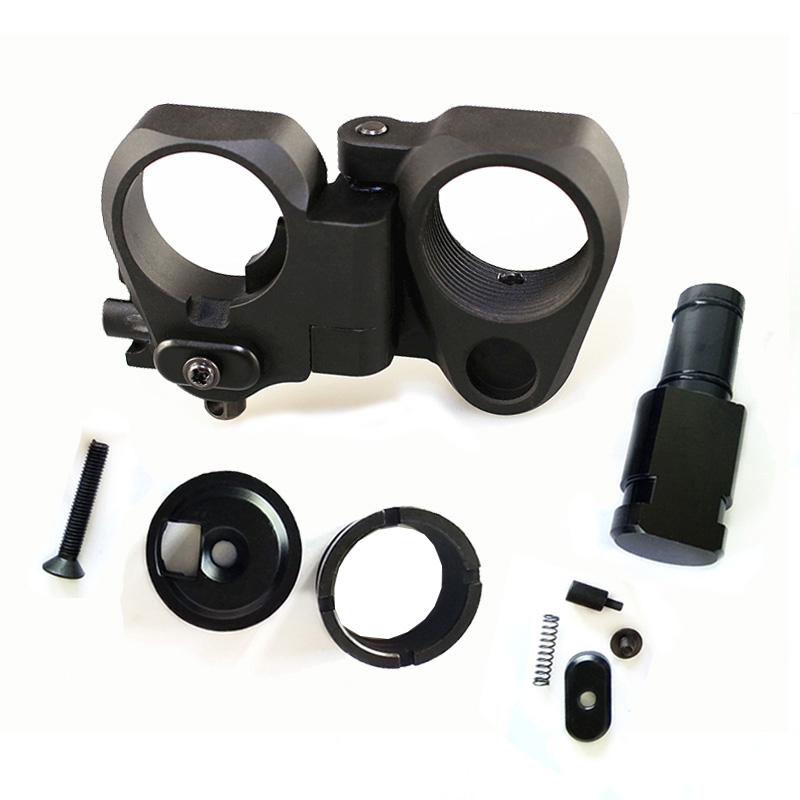 SPINA OPTICS AR Folding Stock Adapter for M16 M4 SR25 AR15 Airsoft Parts Series GBB and AEG, Black/sand