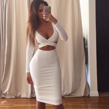 Ladies Dresses Bodycon Fashion Womens Clothes Sexy Bodycon Tight Women Party Dresses