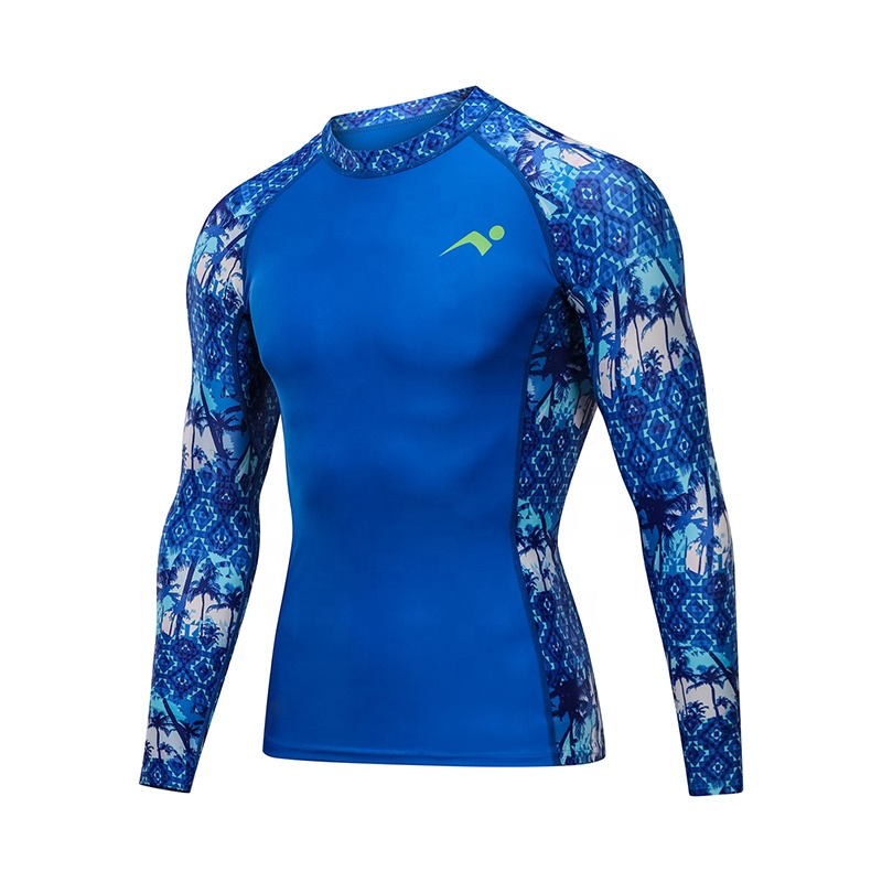 Wholesale Latest Design Your Own Sublimated Custom Logo Printed UV Surf Rash Guard Manufacturer