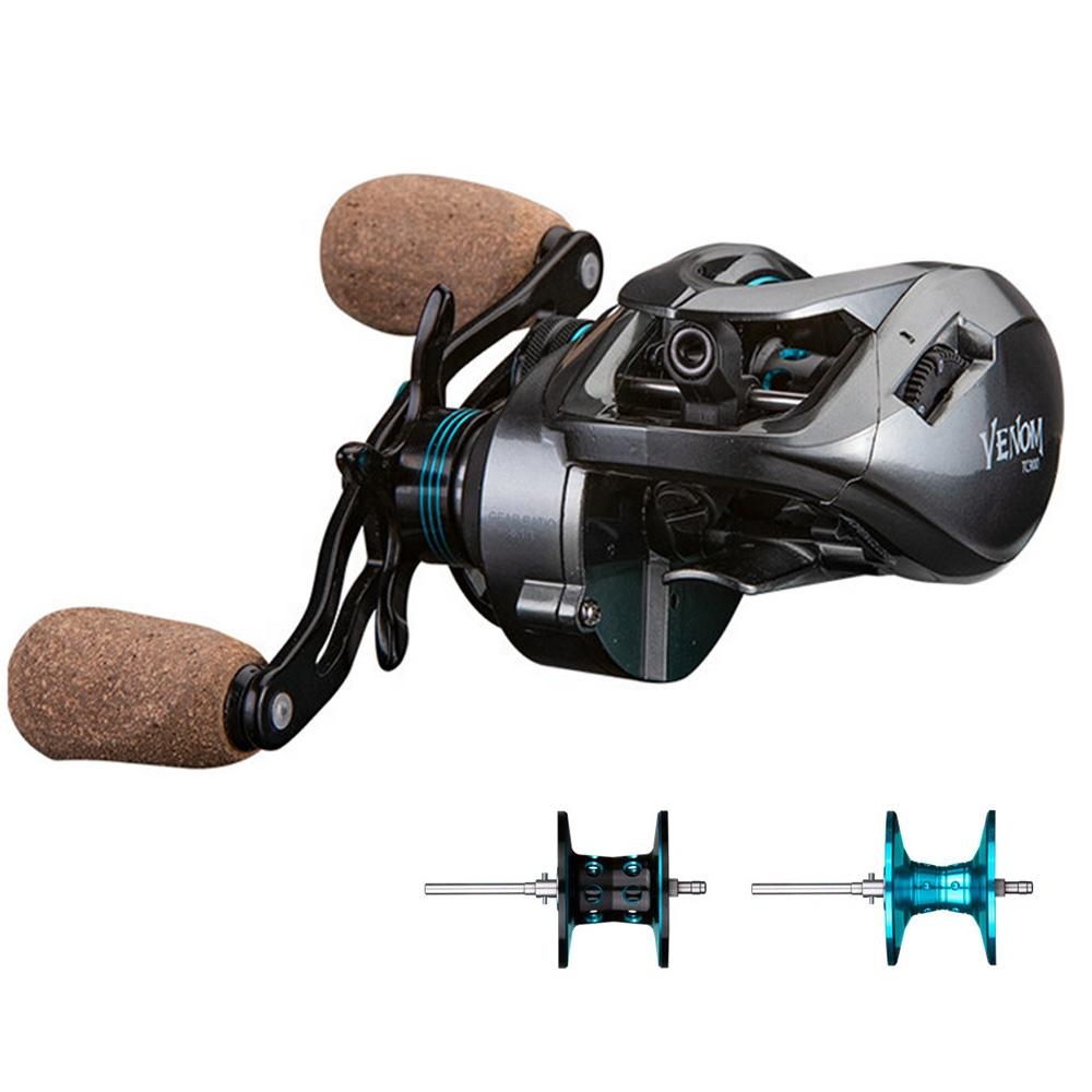 11+1BB 8.1:1 Gear Ratio 8kg Drag Baitcasting Reel With 2 Spools Fishing Reel Wholesale