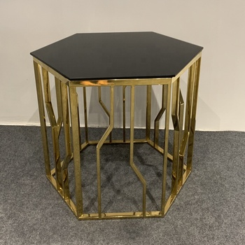 Glass Hexagon Coffee Table 7