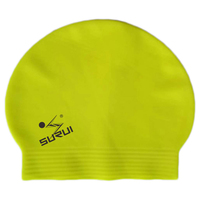 pure thin flexible high quality latex Swim Cap With your logo