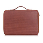 Waterproof Leather Laptop Sleeve Bag Case with Inner Tuck Net Fits All 12-13.3 Inches Laptops