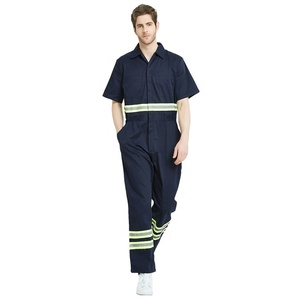 Wholesale Workwear Coveralls Men Short Sleeve Overalls Summer Safety Coveralls Customize Coverall