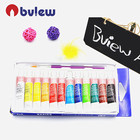 6 ML 12 Color Professional DIY Acrylic Paint Set With Hand Wall Painting Brush