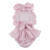 High Quality Pink Plaid Kids Clothing Backless With Ruffle And Bowknot 100% Cotton Baby Rompers Jumpsuit 2020