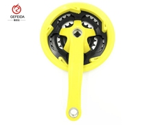 GFD Yellow color <span class=keywords><strong>산</strong></span> <span class=keywords><strong>자전거</strong></span> 3 speeds 체인 휠 및 크랭크. MTB sprocket. 24 34 42 T * 165 MM