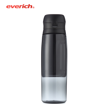 OEM/ODM 750ml plastic bottle with daily pill box screw cap pill bottle sport water bottle with motivational