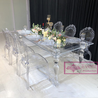 2018 hot selling clear acrylic dining table for wedding