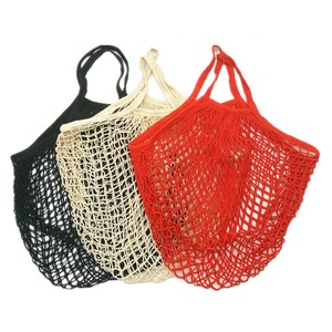 Reusable grocery tote mesh shopping cotton net bag