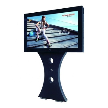 Outdoor Advertising Scrolling Light Box, bill board style, with stylish curved stand